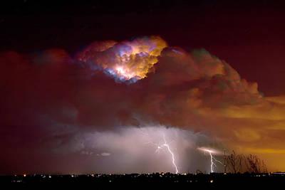 Thunderstorm Boulder County Colorado   Poster