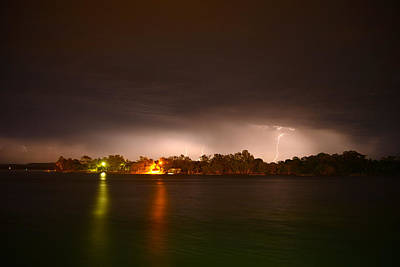 Thunderstorm On The Hasting River Poster