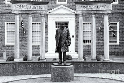 Thurgood Marshall Memorial II Poster by Clarence Holmes