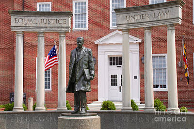 Thurgood Marshall Statue - Equal Justice For All Poster