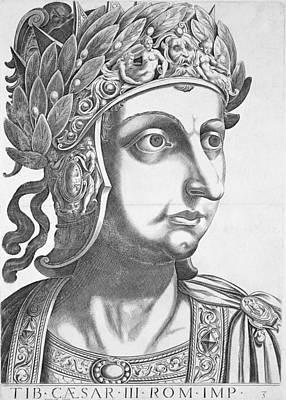 Tiberius Caesar , 1596 Poster by Italian School