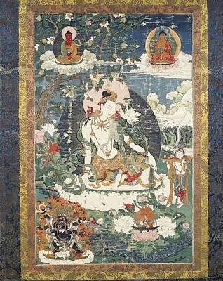 Tibetan Tanka With An Illustration Poster by Everett