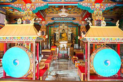 Tibetan Temple - Bodhgaya - India Poster by Luciano Mortula