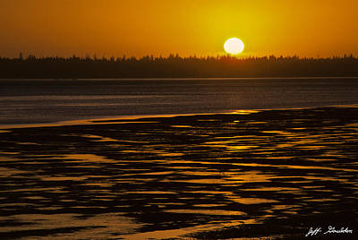 Tidal Pattern At Sunset Poster by Jeff Goulden