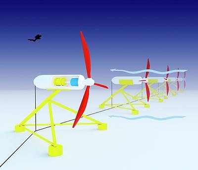Tidal Turbine Energy Poster