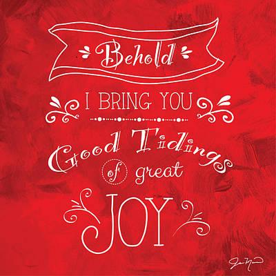 Tidings Of Great Joy By Jan Marvin Poster by Jan Marvin