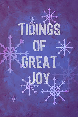 Poster featuring the painting Tidings Of Great Joy by Jocelyn Friis