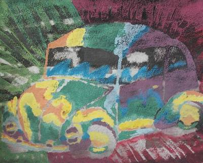 Tie-dye Beetle Poster