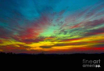 Poster featuring the photograph Tie Dyed Sunrise by Geri Glavis