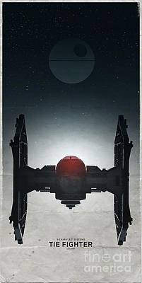 Tie Fighter Poster by Baltzgar