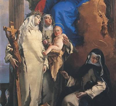 Tiepolo Giambattista, Virgin Appearing Poster