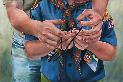 Ties That Bind Poster by Lori Brackett