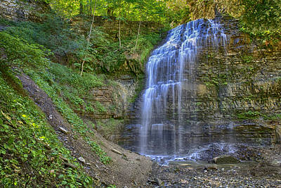Poster featuring the photograph Tiffany Falls In Summer by Gary Hall