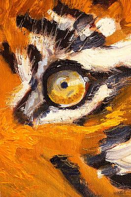 Tiger Eye Poster by Nancy Merkle