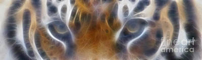 Tiger Eyes-5451-fractal Poster by Gary Gingrich Galleries