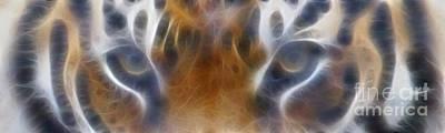 Tiger Eyes-5451-fractal Poster
