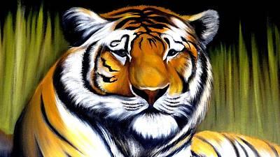 Tiger Face Poster by Xafira Mendonsa