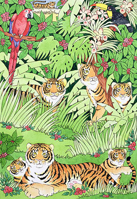 Tiger Jungle Poster by Suzanne Bailey