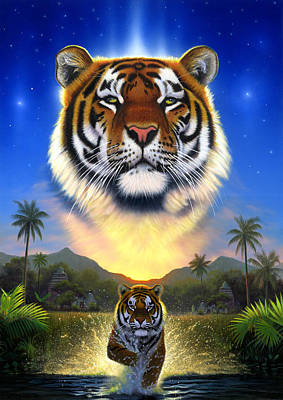 Tiger Of The Lake Poster by Chris Heitt
