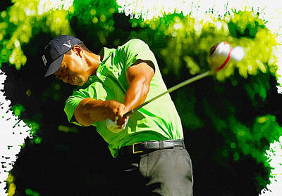 Tiger Woods - Wgc- Cadillac Championship Poster
