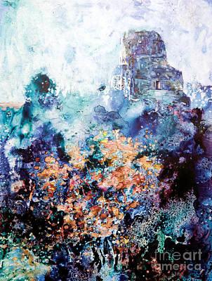 Tikal Ruins Poster by Ryan Fox