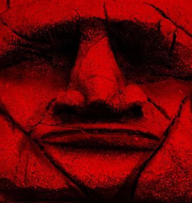 Tiki Mask Red Poster
