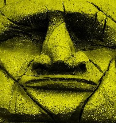 Tiki Mask Yellow Poster
