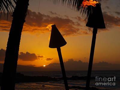 Tiki Time In Maui Poster