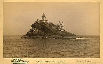 Tillamook Rock Lighthouse Poster by Jerry McElroy - Public Domain Image