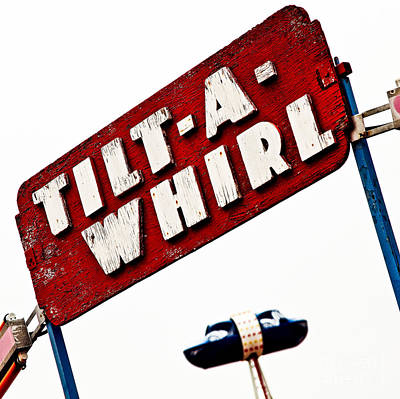 Tilt-a-whirl Poster by Pattie Calfy