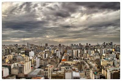 Tilt Shift Buenos Aires Panorama Poster by For Ninety One Days