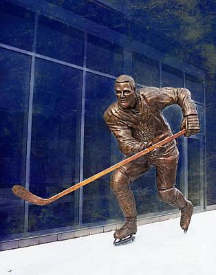 Tim Horton Bronze Statue Poster by Barbara McMahon