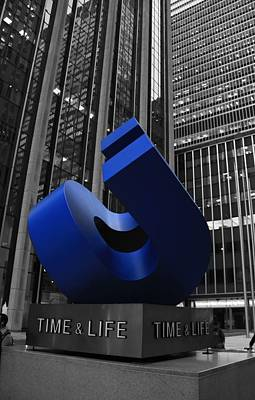 Time And Life Building In New York City Poster by Dan Sproul