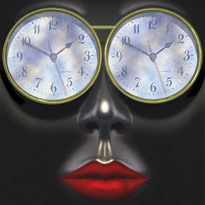 Time In Your Eyes - Sq Poster by Mike McGlothlen