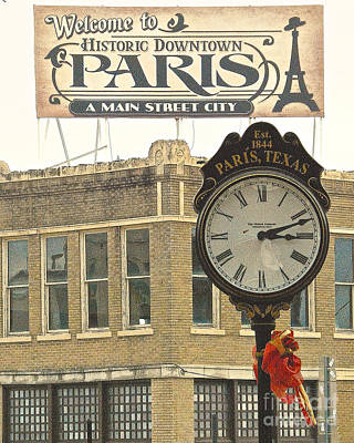 Time To Visit Paris Poster by Dee Dee  Whittle