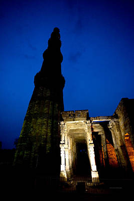 Time Travel  Qutub Minar Poster by Sanjay Nayar
