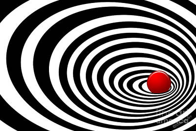 Time Tunnel Op Art Poster