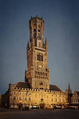 Timeless Bruges Belfort Poster by Joan Carroll