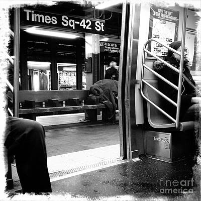 Poster featuring the photograph Times Square - 42nd St by James Aiken