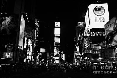 Times Square At Night New York City Usa Manhattan Poster by Joe Fox