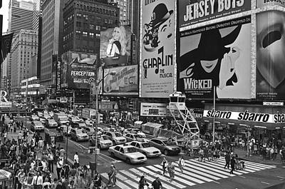 Times Square Bw Poster by Galexa Ch
