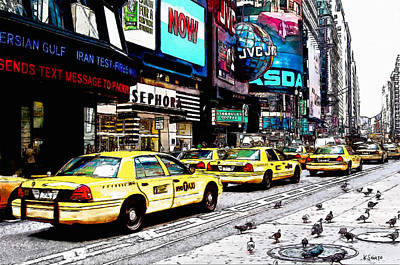 Times Square Poster by Kai Saarto