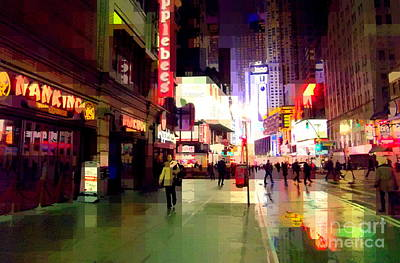 Times Square New York - Nanking Restaurant Poster by Miriam Danar