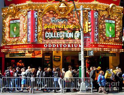 Times Square Ripleys Odditorium Poster by Anne Gordon