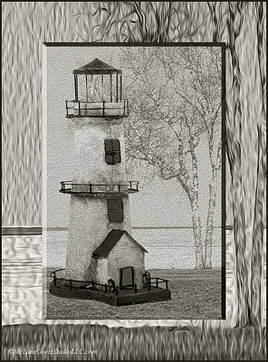 Tin Lighthouse Art Poster by LeeAnn McLaneGoetz McLaneGoetzStudioLLCcom