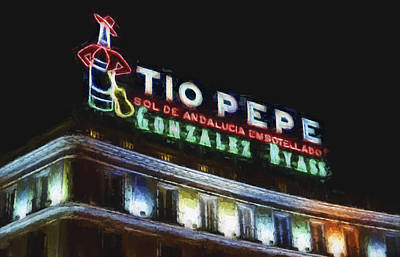 Tio Pepe Sign Madrid Poster