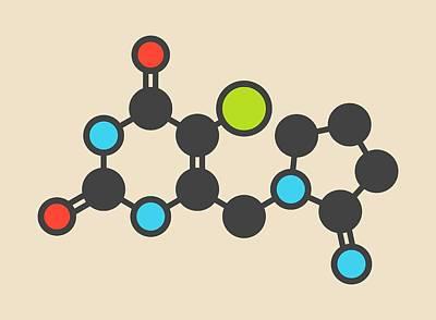 Tipiracil Cancer Drug Molecule Poster by Molekuul