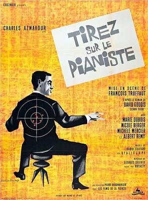 Tirez Sur Le Pianiste - 1960 Poster by Georgia Fowler