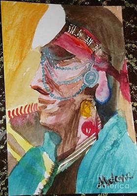 Water Healing Ceremonial Chief Yaz  Poster by Abelone Petersen