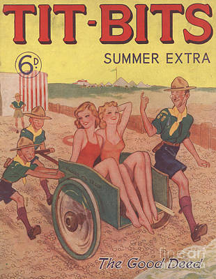 Tit-bits 1930s Uk Boy Scouts Holidays Poster by The Advertising Archives